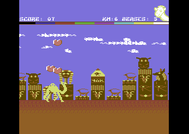 Return of the Mutant Camels Commodore 64 Destroy the enemy.