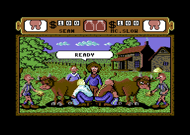 Western Games Commodore 64 Milking.