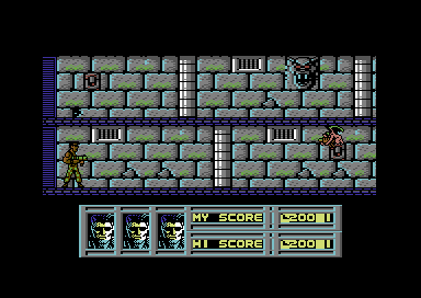 The Vindicator! Commodore 64 Exploring the Catacombs.