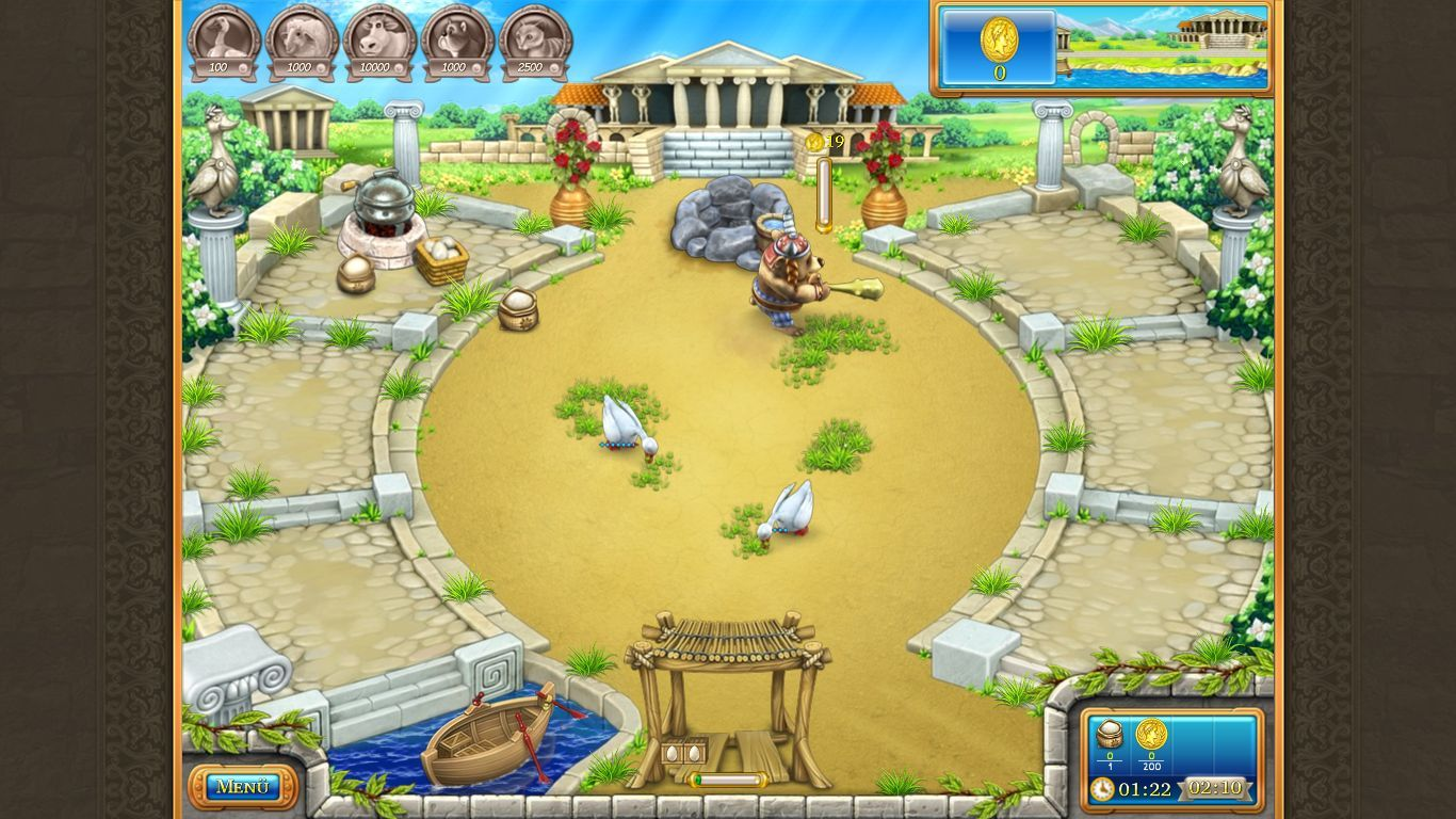 Farm Frenzy: Ancient Rome Windows The bear is a raider