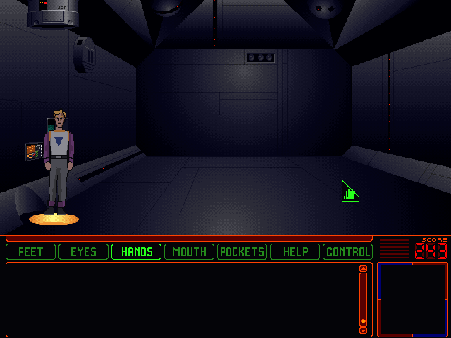 Space Quest 6: Roger Wilco in the Spinal Frontier DOS This looks like an empty room to me.