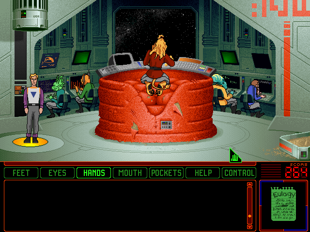 Space Quest 6: Roger Wilco in the Spinal Frontier DOS The bridge.