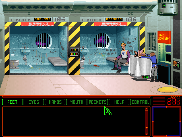 Space Quest 6: Roger Wilco in the Spinal Frontier DOS In the brig