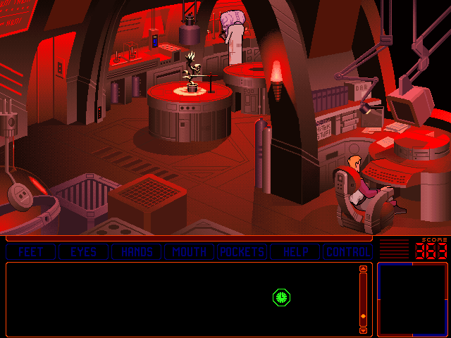 Space Quest 6: Roger Wilco in the Spinal Frontier DOS Lab.