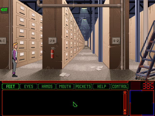 Space Quest 6: Roger Wilco in the Spinal Frontier DOS Files... Piles of files.... Aisles of piles of files... Miles of aisles of piles of files...