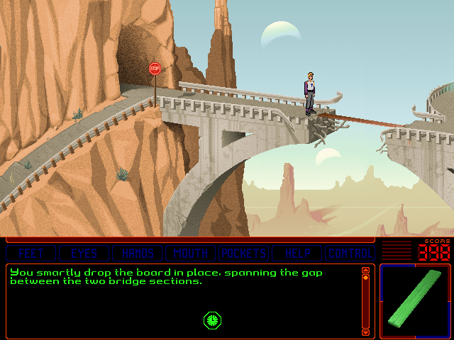 Space Quest 6: Roger Wilco in the Spinal Frontier DOS Now Roger can cross the bridge