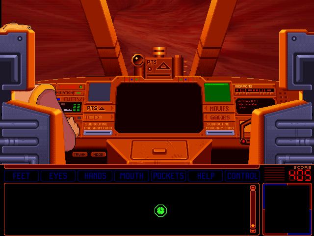 Space Quest 6: Roger Wilco in the Spinal Frontier DOS Roger enters Stella's body