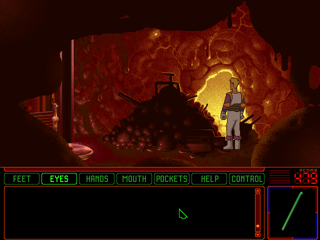 Space Quest 6: Roger Wilco in the Spinal Frontier DOS What is that pile of stuff?