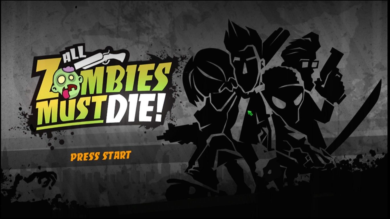 All Zombies Must Die! Windows Title Screen