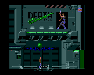 Flashback: The Quest for Identity Amiga Level 2 - Outside the Death Tower.