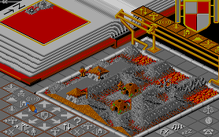 Populous Amiga Enemy village.