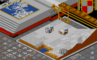 Populous Amiga A ice and snow world.