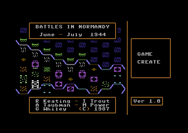 Battles in Normandy Commodore 64 Title screen.
