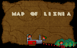 Zis the Adventure DOS Map of Lisnia