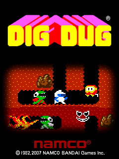 Dig Dug Windows Mobile Title screen (1.10)