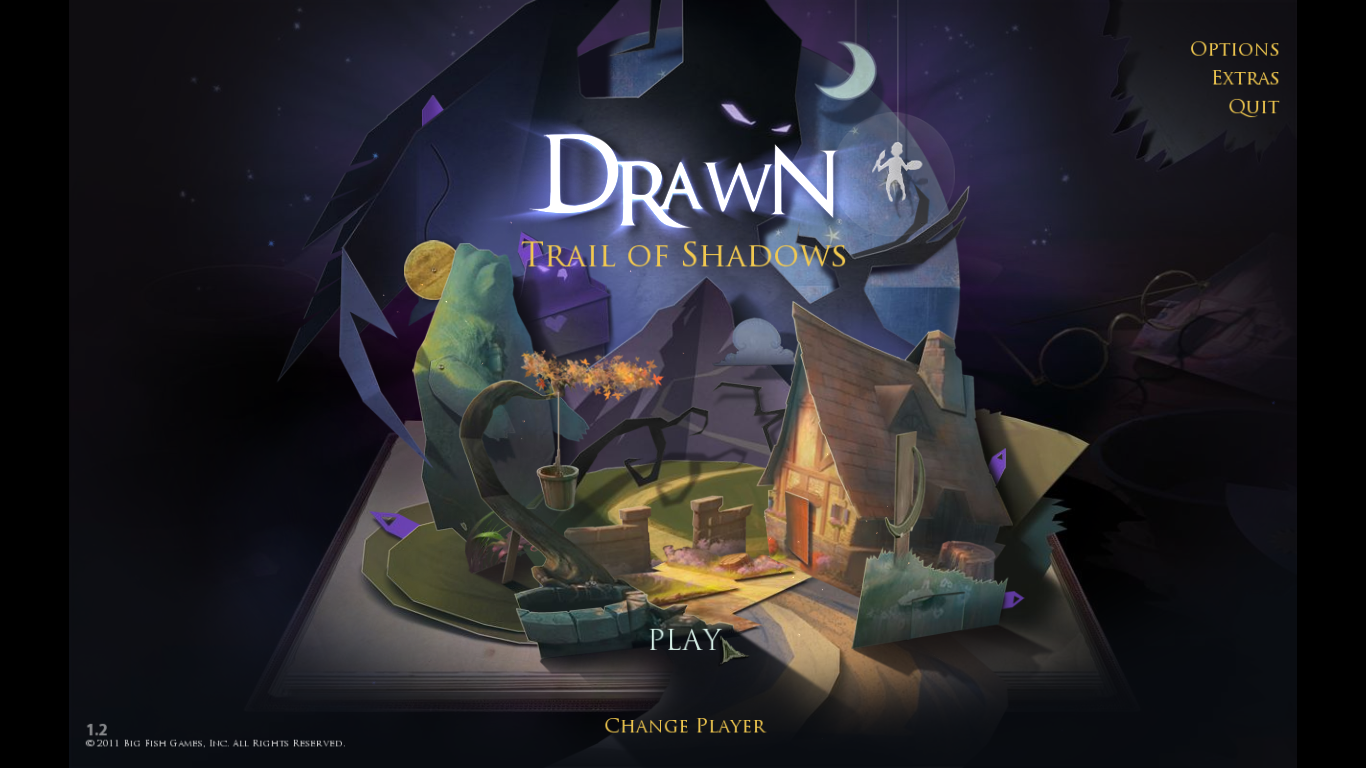 Drawn: Trail of Shadows Windows Main Menu