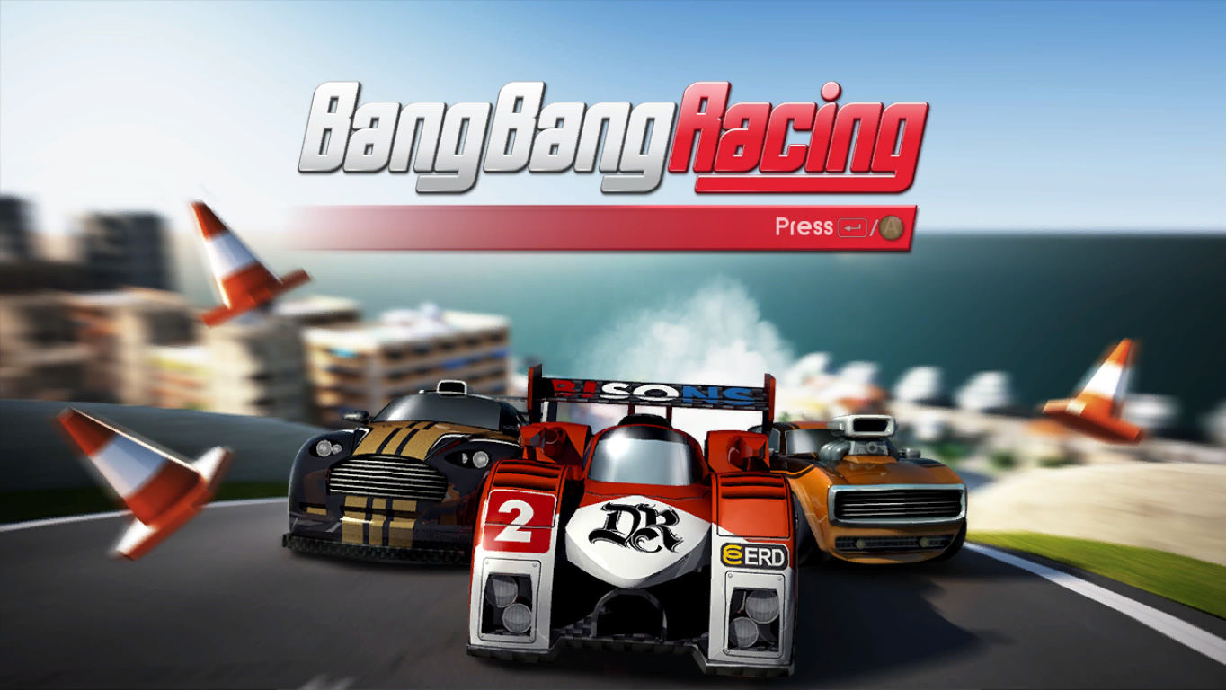 Bang Bang Racing Windows Title screen