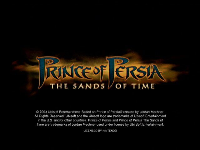 Prince of Persia: The Sands of Time GameCube Title Screen