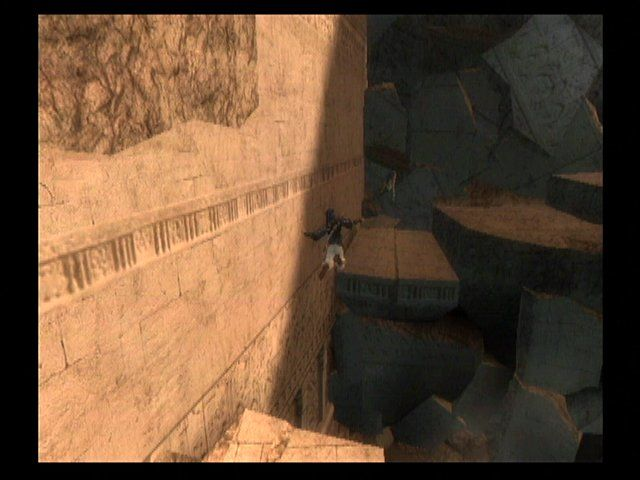 Prince of Persia: The Sands of Time GameCube The Prince can jump great distances.