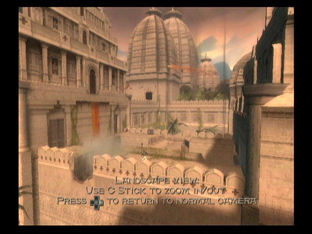 Prince of Persia: The Sands of Time GameCube Landscape View lets you take in the incredibly detailed environments.