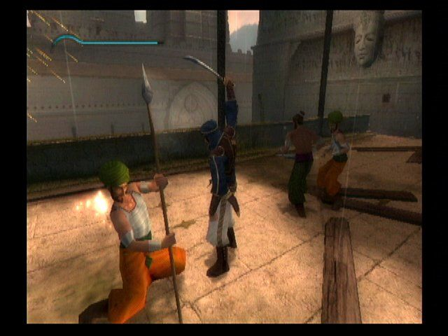 Prince of Persia: The Sands of Time GameCube Combat is very smooth and graceful.