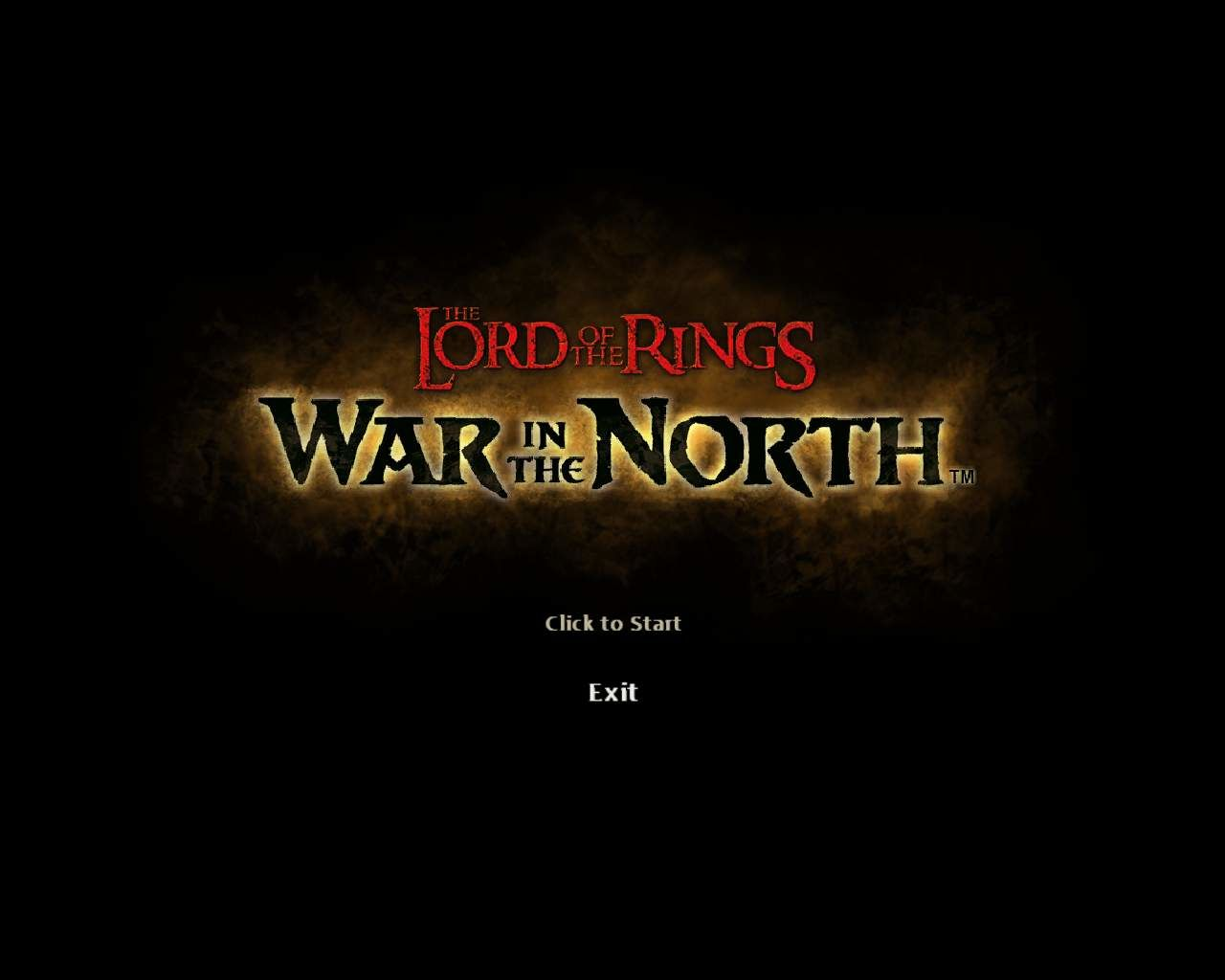 The Lord of the Rings: War in the North Windows Title screen
