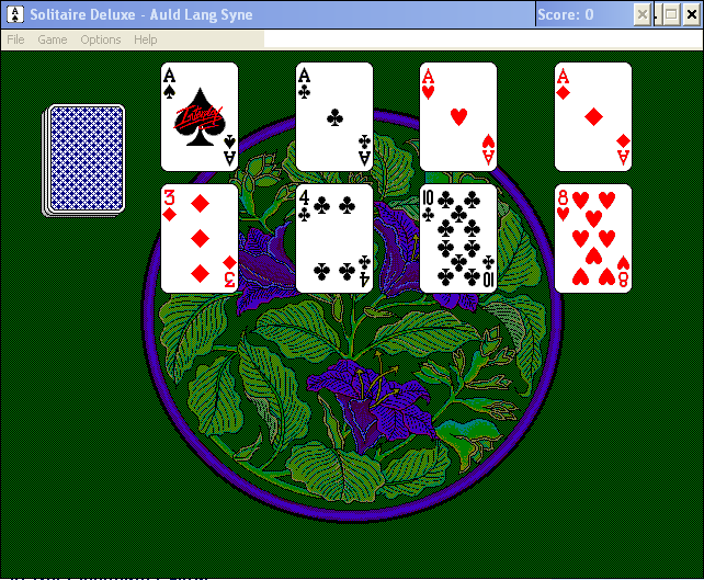 Solitaire Deluxe Windows 3.x Auld Lang Syne