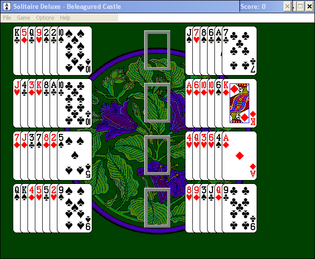 Solitaire Deluxe Windows 3.x Beleagured Castle