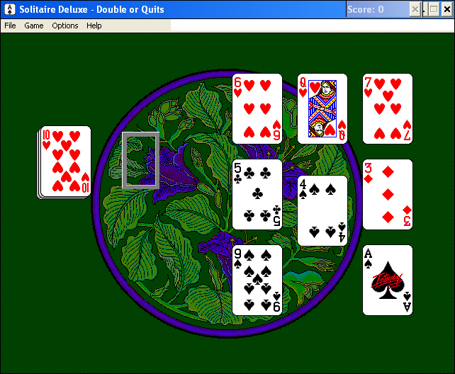 Solitaire Deluxe Windows 3.x Double or Quits