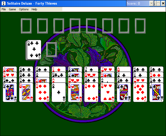 Solitaire Deluxe Windows 3.x Forty Thieves