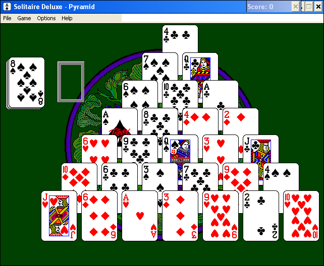 Solitaire Deluxe Windows 3.x Pyramid