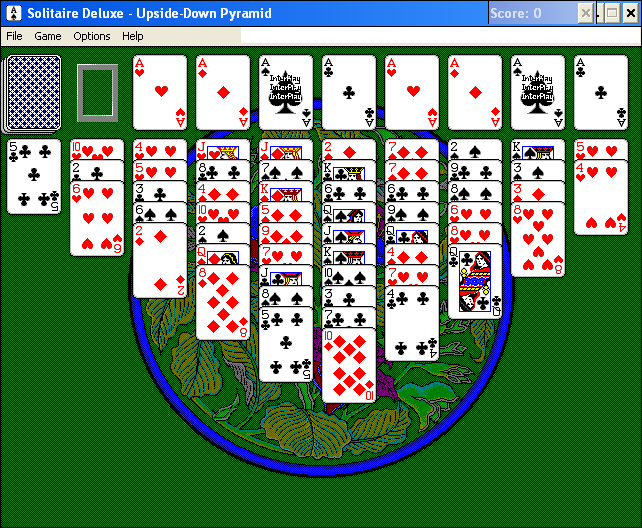 Solitaire Deluxe Windows 3.x Upside-Down Pyramid