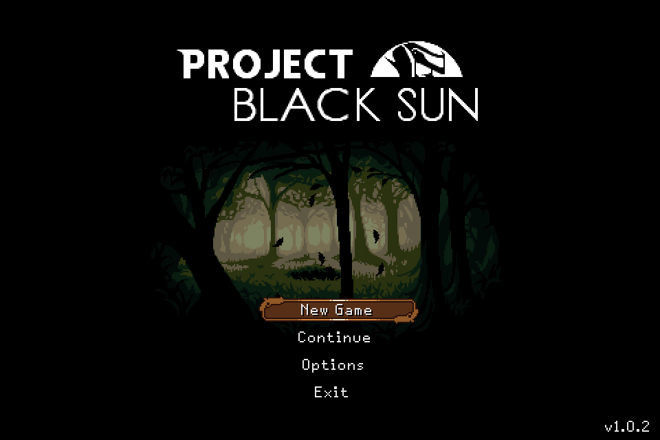 Project Black Sun Windows Title screen