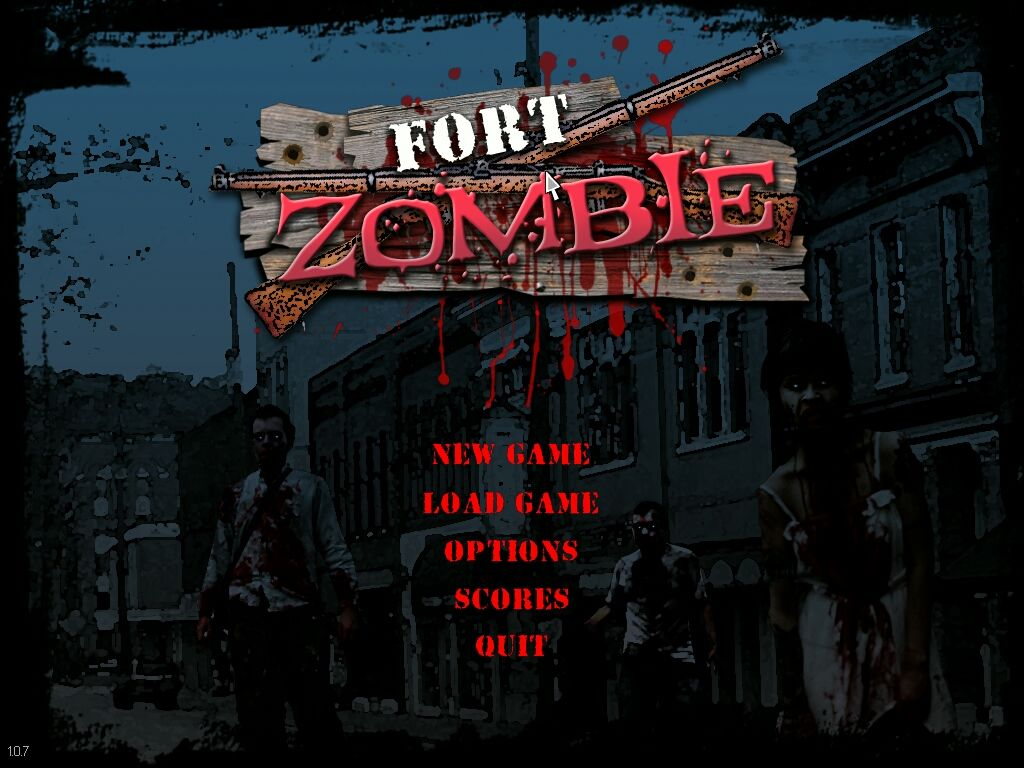 Fort Zombie Windows Title Screen