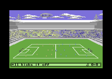 Football Manager 3 Commodore 64 Watching the game.