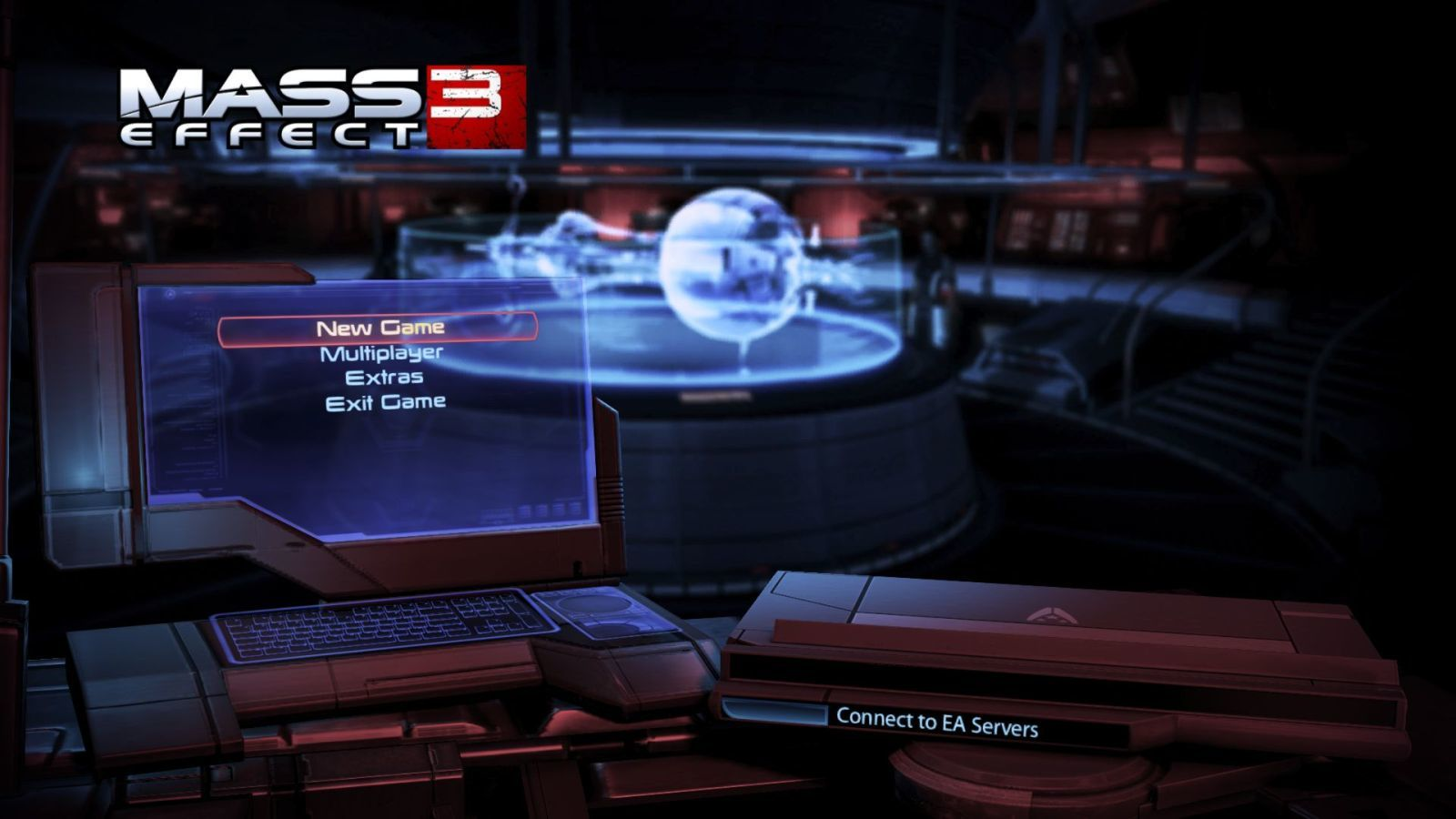Mass Effect 3 Windows Main menu