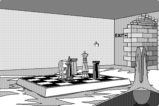 The Manhole Macintosh The game is full of Wonderland moments—suddenly, the tower was just part of a chess set.