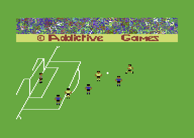 Football Manager Commodore 64 Blackpool attack.