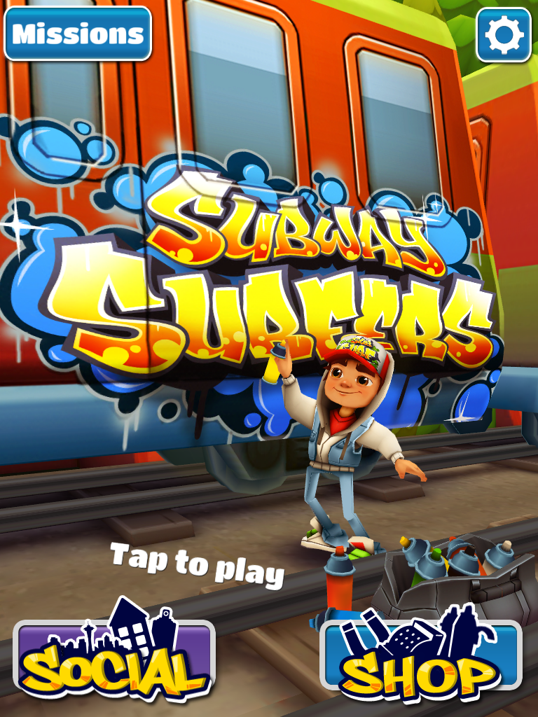 Subway Surfers iPad Title screen
