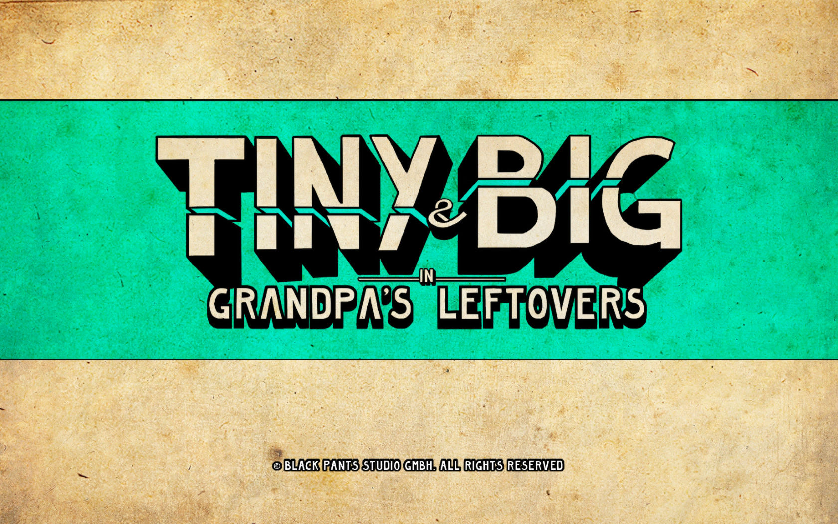 Tiny and Big: Grandpa's Leftovers Windows Title screen