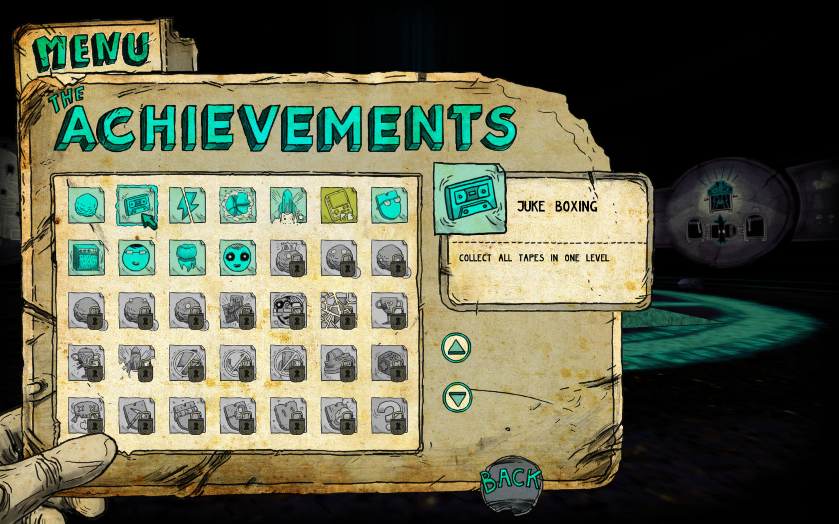 Tiny and Big: Grandpa's Leftovers Windows Achievements screen