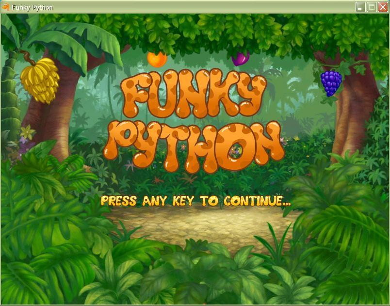 Funky Python Windows Start screen (windowed)