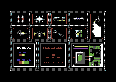 Black Hornet Commodore 64 Buy weapons and re-fuel.