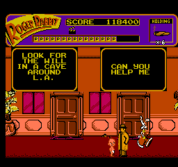 baby herman makes an appearence offering advice - Who Framed Roger Rabbit Nes