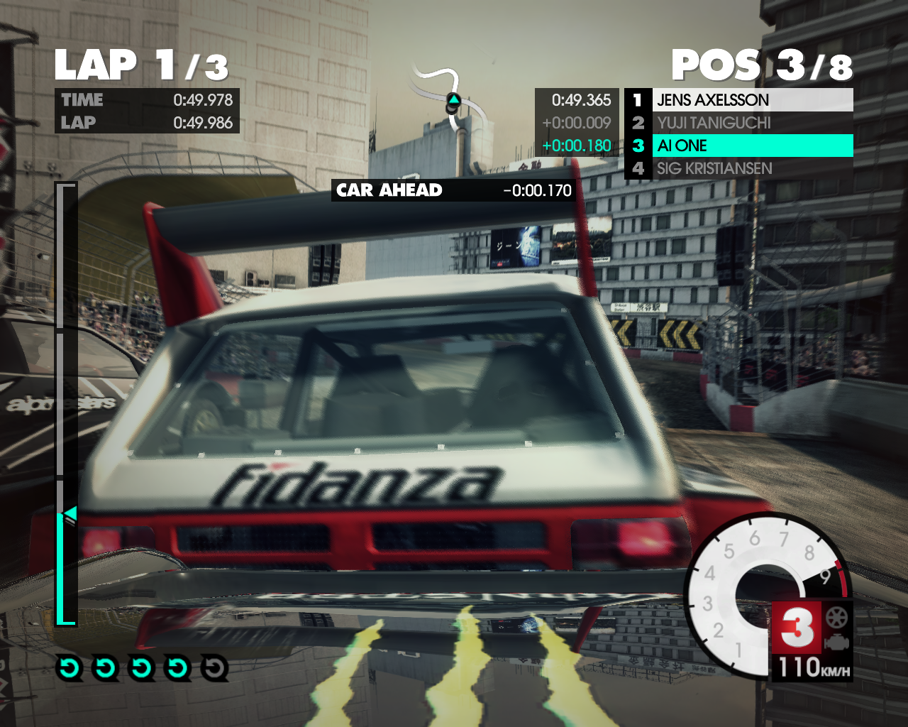 X Games Asia Track Pack Windows Three race leaders in a battle