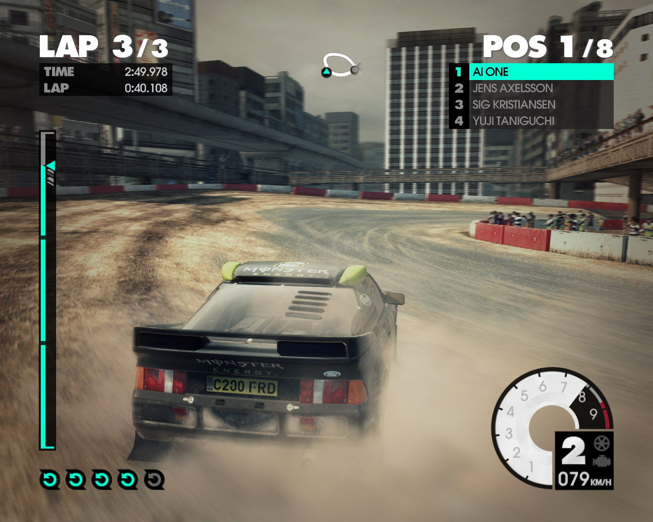X Games Asia Track Pack Windows Drifting in the dirt