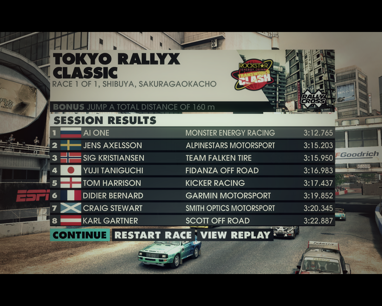 X Games Asia Track Pack Windows Race results