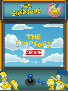The Simpsons Arcade J2ME Title screen