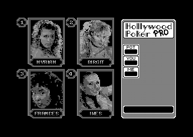 Hollywood Poker Pro Commodore 64 Who to play?