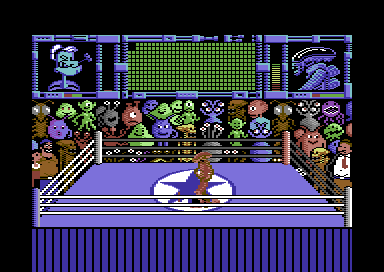 Popeye 3: WrestleCrazy Commodore 64 Pinned down.